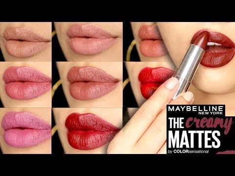 maybelline-creamy-mattes-lipstick-|-lipswatch-on-medium-skintone-|-luna