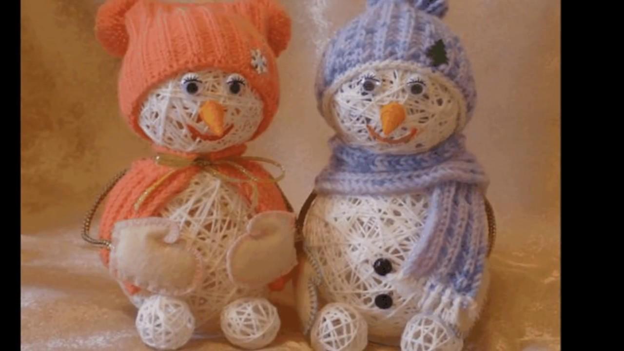 снеговик из ниток своими руками пошаговое фото качественные
