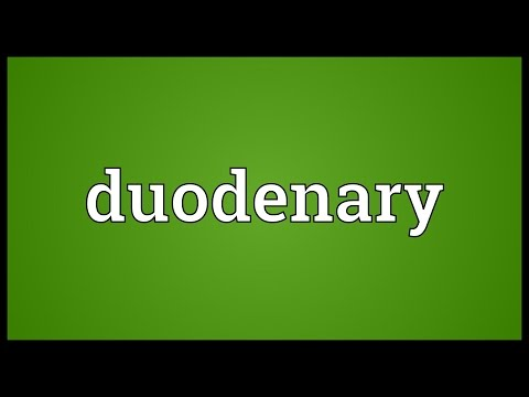 Header of duodenary