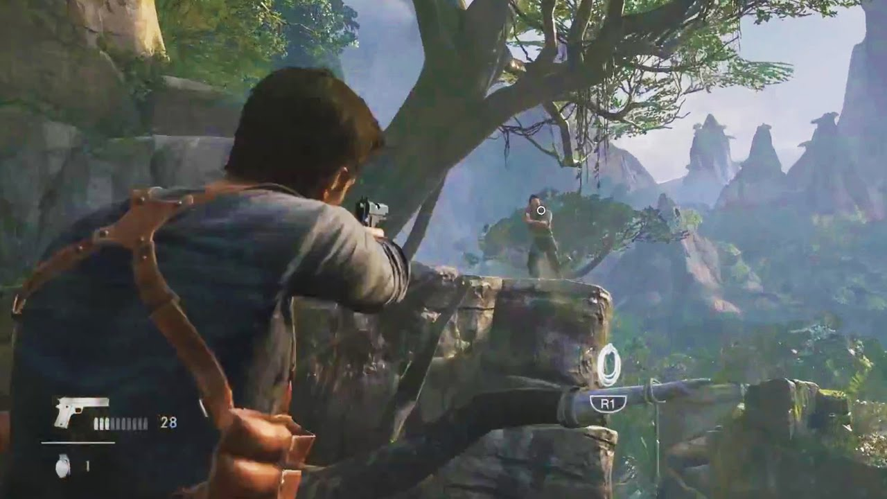 Uncharted 4 Gameplay PS4 - DRAKE HAS A BROTHER...AND A ...