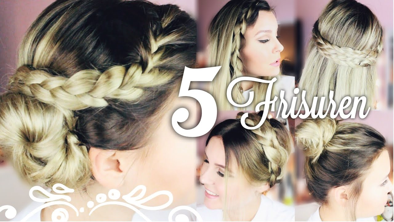 "5 SCHÖNE & EASY "" 5 Minuten "" FRISUREN ♡ Dagi Bee YouTube"