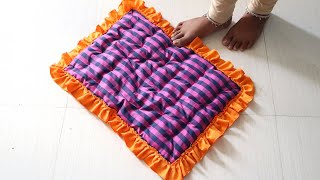 Most Easiest ways to Make simple Doormat from Old Clothes   DIY Doormat   Sonali's Creations