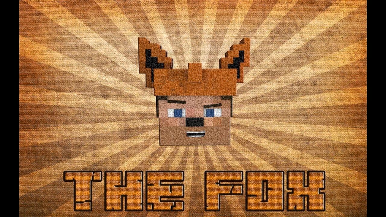 Layout Pixel Art Minecraft Fox