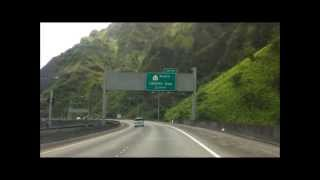 Dramatic Jungle Scenery on Interstate H-3 in Hawaii