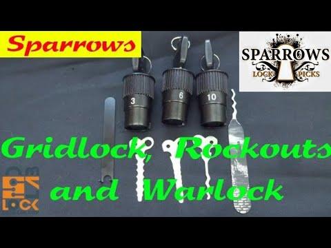 (973) Review: Sparrows GRIDLOCK, ROCKOUT, & WARLOCK Lock Picks