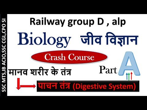 GS for railway group D,alp technician-Biology crash course in Hindi part1,gs online class studyadd