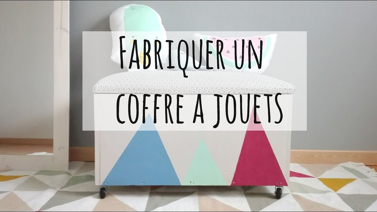 diy fabriquer un coffre jouets youtube. Black Bedroom Furniture Sets. Home Design Ideas