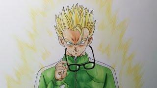 Drawing Gohan Super Saiyan - Resurrection F