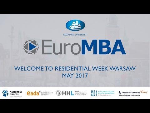 EuroMBA Residential Week Warsaw May 2017