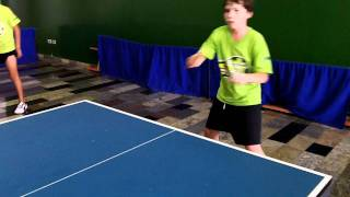 Young boy Renan Elydio - Table Tennis - Drive - Chop - Attack