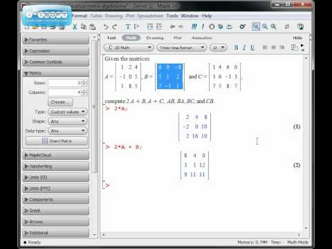 how to get the determinant of 4x4 matrix