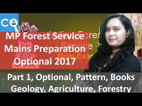 MPPSC Forest Service Mains Preparation for Optional | Part 1 | Geology, Forestry