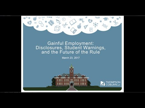 Gainful Employment Disclosures and Student Warnings