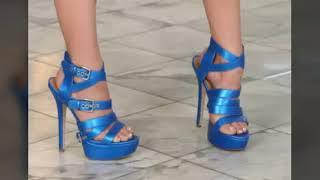 Tacones Color Azul De Moda Para Mujer