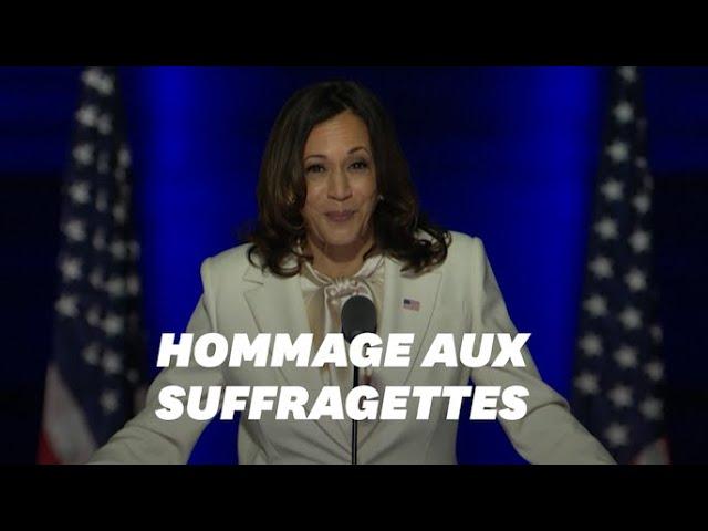 Kamala Harris portait une tenue très symbolique lors de son discours de victoire