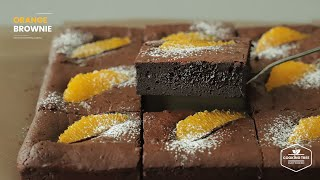 오렌지 브라우니 만들기 : Orange Brownie Recipe | Cooking tree