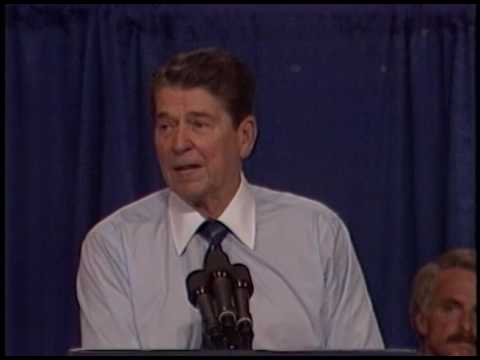 President Reagan's at North Carolina State University in Raleigh on September 5, 1985