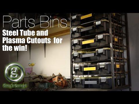Parts Bin Storage Shelves - Garage Make Over - Part 1