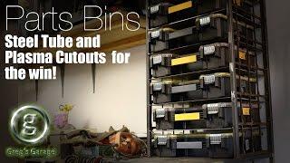 parts bin storage shelves garage make over part 1