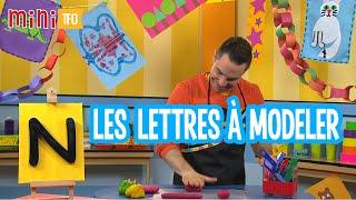 Les lettres à modeler : N