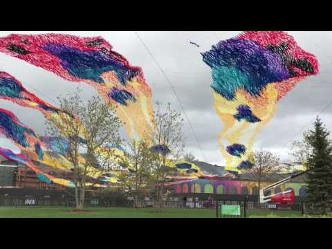 """Installation """"Firebird Descent"""" by Poetic Kinetics Group at New Holland Island, St. Petersburg"""
