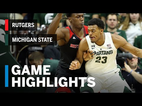 Highlights: Rutgers at Michigan State | Big Ten Basketball