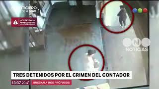 Tres detenidos por el crimen del contador - El noticiero de la gente