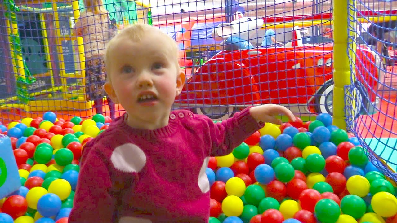 Indoor Playground Family Fun for Kids Part 2 with Spelling Ball