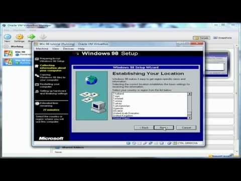 Install Windows 98 (and play old win games) with VirtualBox - Squakenet com  tutorial