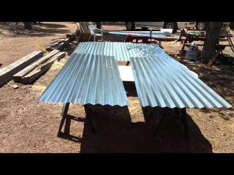 Corrugated metal bath enclosure