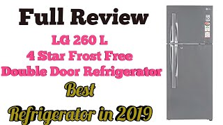 Best Refrigerator in 2019 | LG 260 L 4 Star Frost Free Double Door Refrigerator