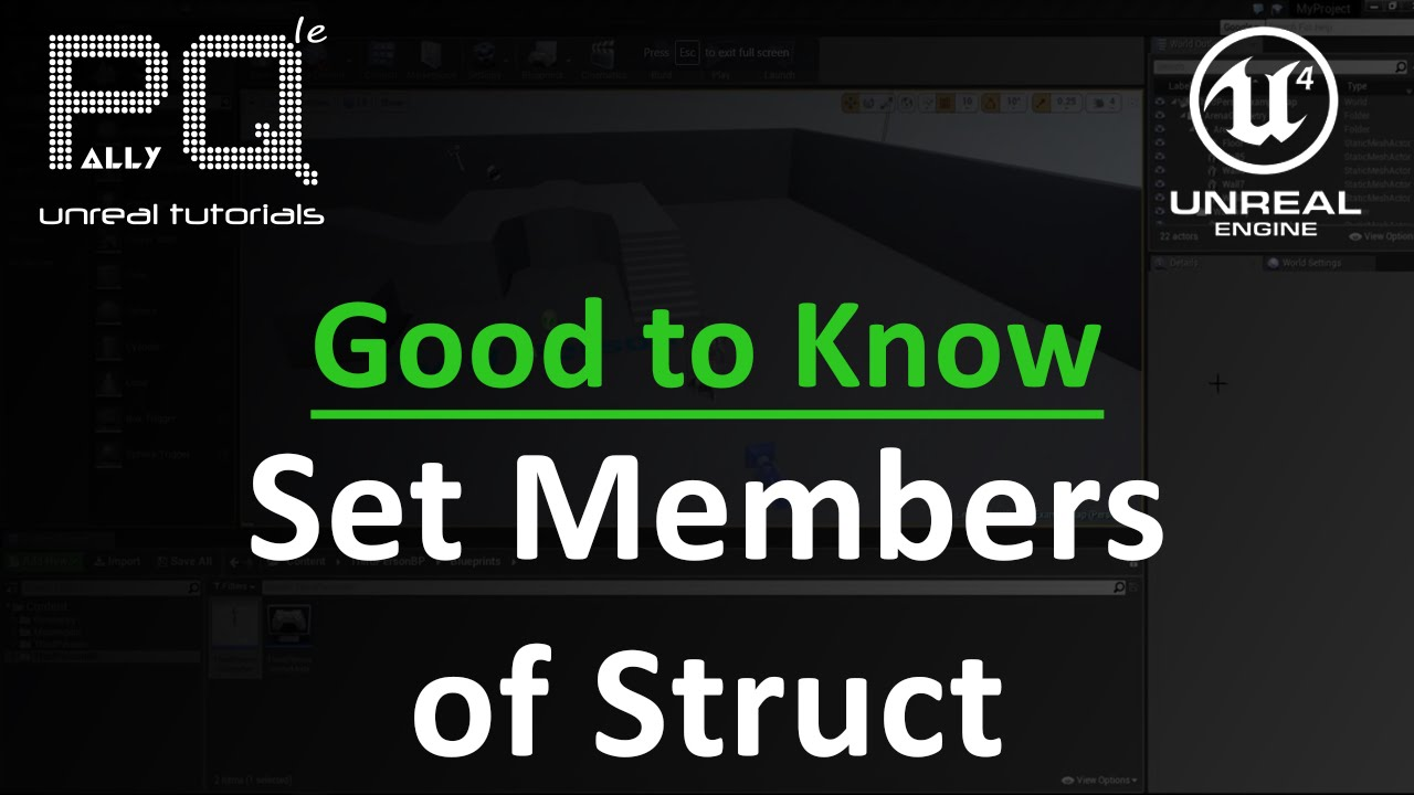 Unreal Engine 4 Good to Know - Set Members of Struct
