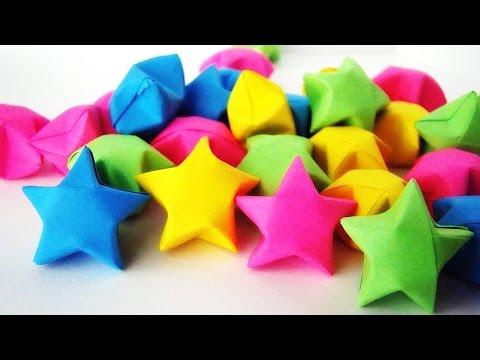 cara buat bintang kertas/origami star