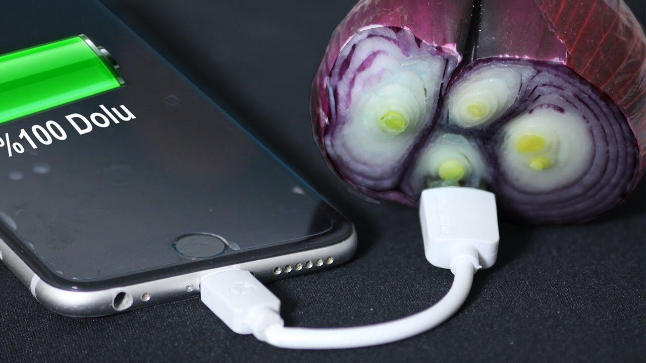 Patates soğan ile telefon şarj etme