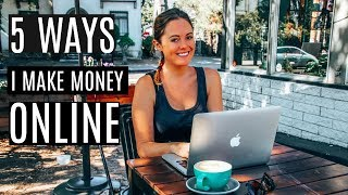 5 ways i make money online & how plan to increase my income