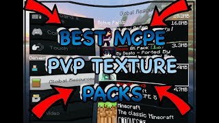 3 Best MCPE PvP Texture Packs 1.1 | Fps Boost | 100% No Lag