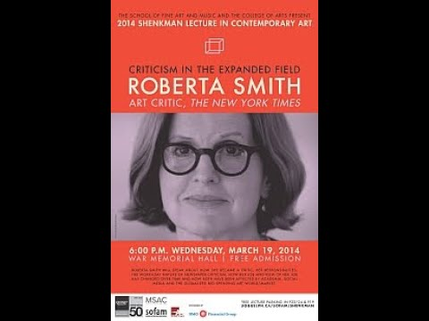 Shenkman 2014 - Featuring: Roberta Smith