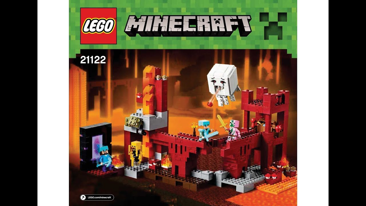 Lego 21122 The Nether Fortress Instructions Lego Minecraft 2015