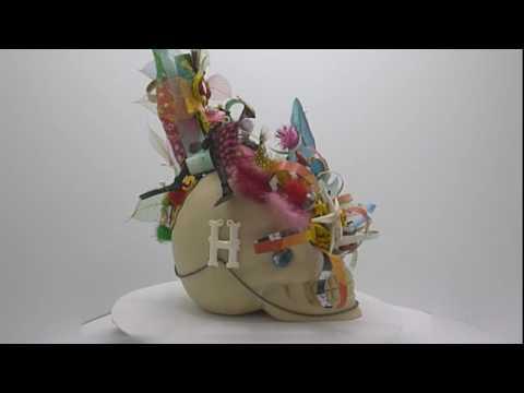 SKULL Bali 'SKULLture' Exhibition Resin Art Harry Daily 'Sonic Bloom'