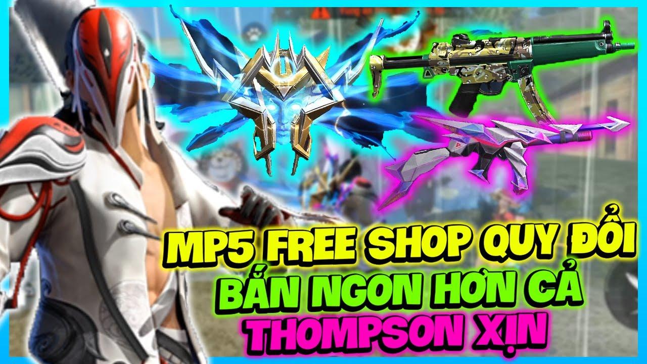 (FREE FIRE) TEST SKIN SHOP QUY ĐỔI MIỄN PHÍ MP5 RẰN RI, THOMPSON BẠCH CƯỚC VÀ VÒNG QUAY VÀNG FREE