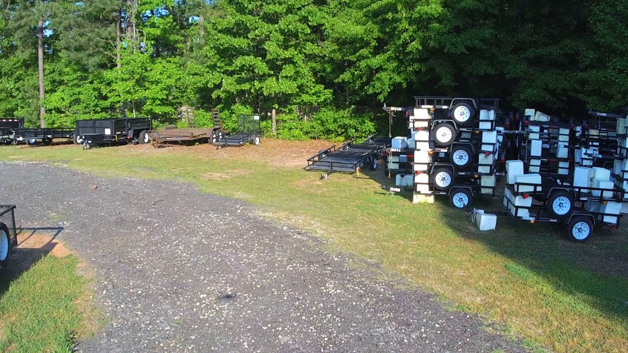 Trailers For Less >> Fly By View Of Trailers For Less Fayetteville Ga Youtube