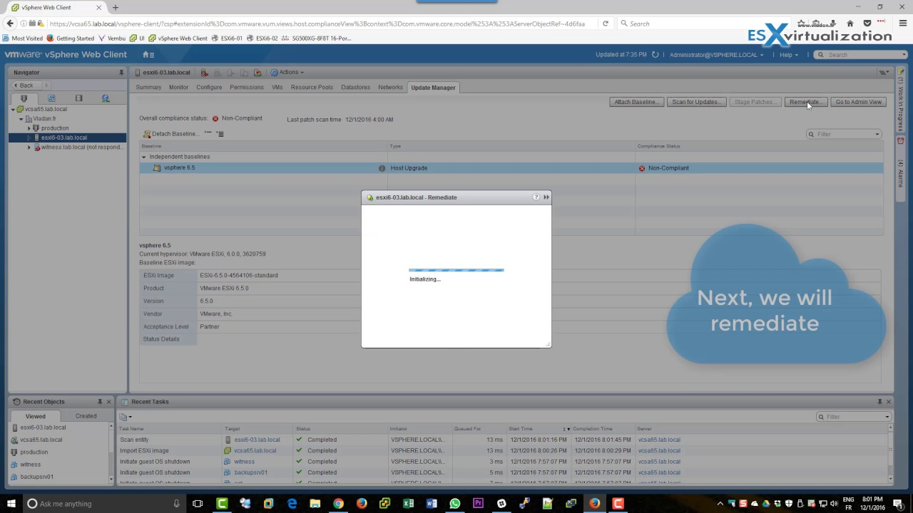 How to upgrade a ESXi 6 0 to ESXi 6 5 via VMware Update Manager