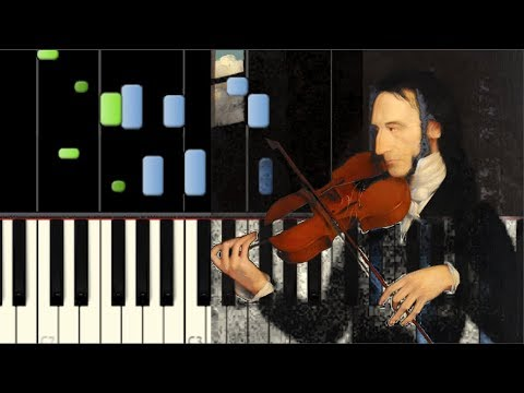 niccol paganini caprice no 24 piano tutorial synthesia youtube. Black Bedroom Furniture Sets. Home Design Ideas