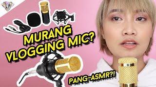 MURANG VLOGGING MICROPHONE?! PWEDENG PANG ASMR?! BM 800 MICROPHONE REVIEW & TEST