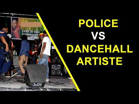 Jamaica Cop Clash Dancehall DJ Before Locking off The Party