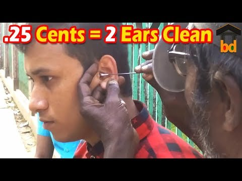 ►Only 20 Taka For 2 Ear Cleaning II Smart Guys Regularly Ear Clean on Road Side II Ear Waxing BD