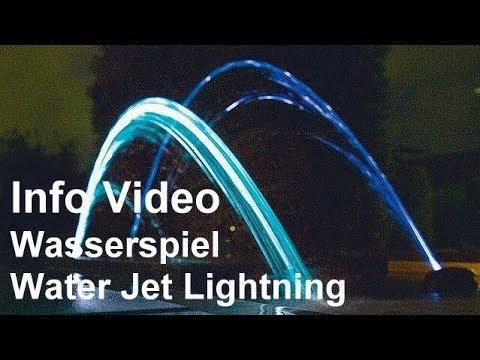 wasserspiel oase water jet lightning video garten. Black Bedroom Furniture Sets. Home Design Ideas