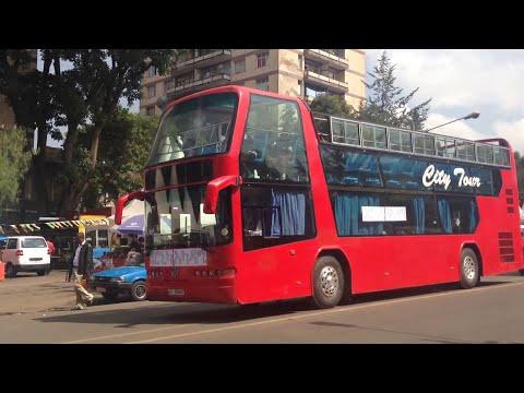 Double deck tour bus in Addis Ababa Ethiopia