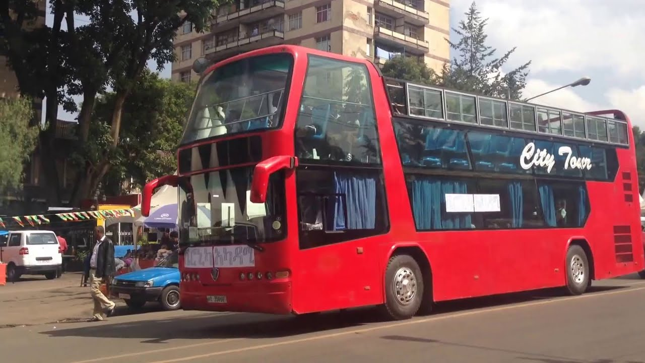 Double deck tour bus in Addis Ababa Ethiopia