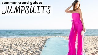 How to Wear JUMPSUITS I Summer Trend Guide